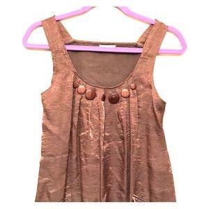 Copper tone mini dress